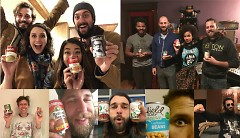 Artists promoting the canned food drive