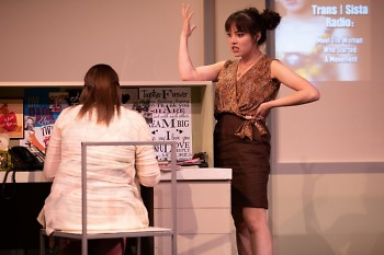 Kendra (Bryanna Lee) providing fearless feedback in the workplace.