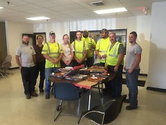 Thank you pizza from East Hills to the City of Grand Rapids' Forestry crew.
