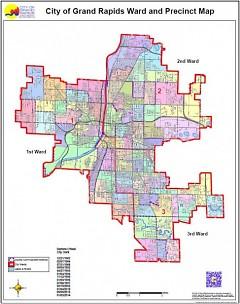 City of Grand Rapids Ward and Precinct Map