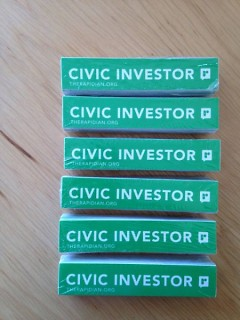 Civic Investor stickers for our Rapidian investors!