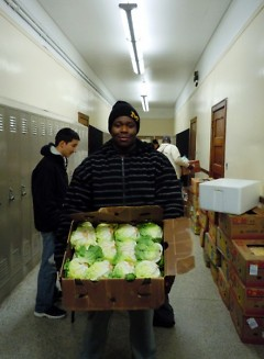 Clarence, a junior, is motivated to help others because of his own experience with food insecurity.