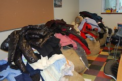 Over 250 coats were collected to support youth in Grand Rapids.
