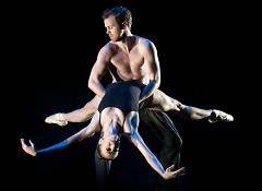 """GRB dancers Monica Pelfrey and Nicholas Schultz perform """"Cold Winter's Waiting"""" choreographed by Brian Enos"""