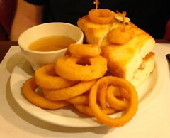 The lovely Cuban Sandwich, with rings.