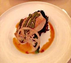 Salmon with brocolini