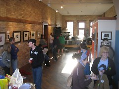 A recent potluck and art event at The DAAC