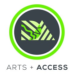 Arts + Access badge for Art.Downtown.