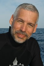 Dr. David Guggenheim aboard a research vessel in Cuba