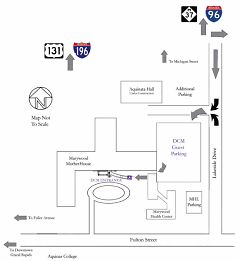 Map to free DCM parking--barrier-free.