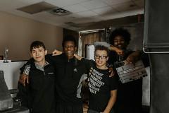 Three boys in the Delta Project program