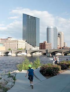 River front city scape