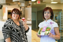 Betsy Denham of Scrumptious Cupcakes and Sweetery, and Holly McManus of Cooking Under the Moon, both use the Incubator Kitchen.