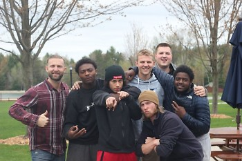 Donny, volunteers and youth at the Michigan Men's Retreat.