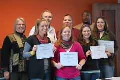 Some of the Advancing Youth Development (AYD) course participants after receiving their certificate of completion.