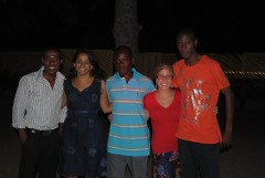 GVSU Ghana Nsu Project team (L to R): Attah Keelson, Uma J. Mishra, Charles Afedzie, Annie Hakim, and Samuel Gordon