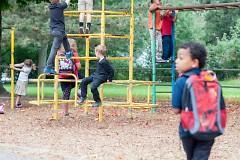 Children playing at Shawmut Hills Elementary