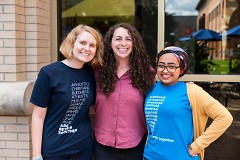 Katie Gordon, Shelby Bruseloff, Amina Mohamed at the Made in Michigan: Interfaith Lab