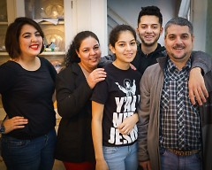 Ernesto Pulido with his parents and sisters