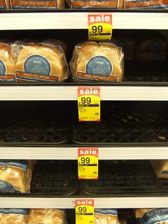 Not the only one: I noticed that many of the really inexpensive items on sale were often gone or nearly gone.