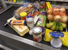 Final tally: The collection of food for the week