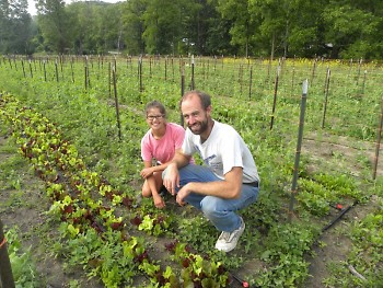 Heather and Chad Anderson at The Green Wagon Farm in Ada