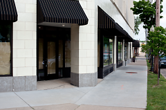 Storefront entrance from Lake Drive