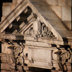 Stone Eagles on Federal Building dedicated by President Theodore Roosevelt