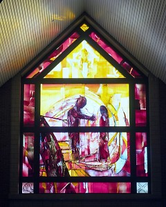The East Window in Christ Chapel in Cornerstone University
