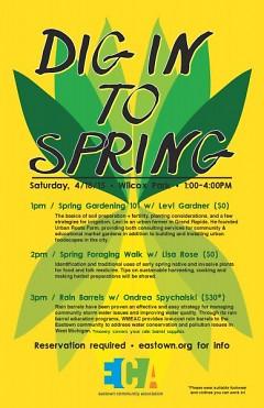 """Dig into Spring"" workshop schedule"