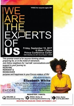 """We Are the Experts of Us"" luncheon flyer"