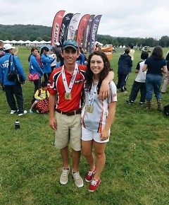 Siblings Chris and Emily Bee of Hartland are on the MSU Archery Team and compete worldwide.