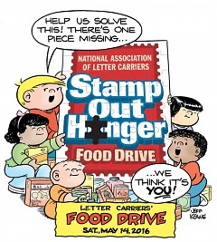 The National Association of Letter Carriers has been coordinating Stamp Out Hunger for 24 years.