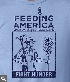 """Live. Love. Michigan. drew inspiration for this design from World War II-era """"victory garden"""" posters."""