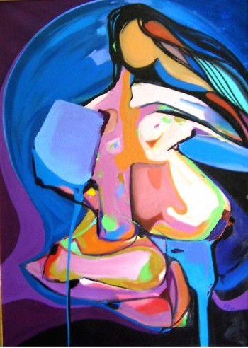 Femme Blue by Picardo