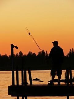 """Fishing at Sunset"""