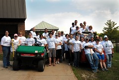 A group of volunteers from Foremost worked hard to complete a large outdoor project during the 2009 Day of Caring.