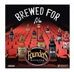 A Brewed for Film promotional image highlighting the beers that will be included in the film series.