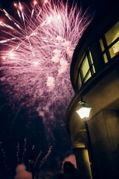 Fireworks above the Grand Rapids Public Museum