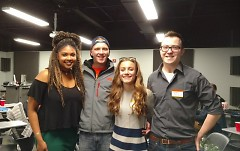 Gabby Vernon, left, produced the video with fellow students Shawn Wasser, Sarah Ford and Casey Perialas.
