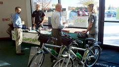 Priority Health recently purchased campus bikes for employees to sign out for lunchtime errands, recreation or exercise.