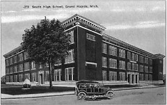 This 1925 postcard showcases the then newly built South High School building