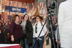 Pre-concert activities included free photos with a Hogwarts Sorting Hat