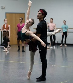 Grand Rapids Ballet's Cassidy Isaacson and Josue Justiz dance will dance tangos by Astor Piazzolla with Grand Rapids Symphony.