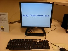 Funding for the SBRC comes from GRPL Foundation-Titche Family Fund.  Two computers are dedicated to business  data bases.