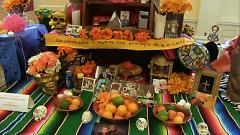 Altar built by a community member for Día de los Muertos 2016.
