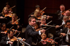 Music Director Marcelo Lehninger leads the Grand Rapids Symphony on Friday, Oct. 5, 2018.