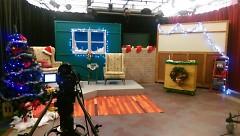 The GRTV studio ready for Santa's arrival in 2016.