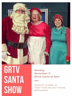 The GRTV Santa Show will air live on December 11 from 5-6 PM.