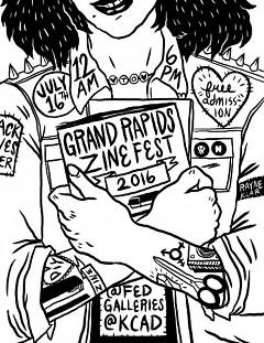 Granda Rapids Zine Fest poster